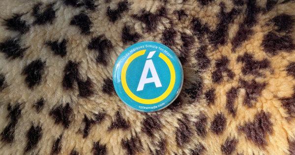 Vote Amáda pin