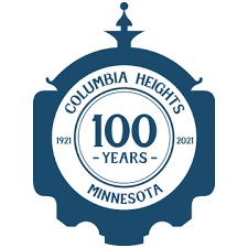 Logo for the City of Columbia Heights Minnesota, celebrating 100 years from 1921 to 2021